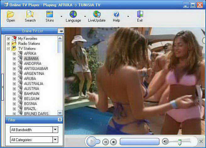 Online TV Player screenshot